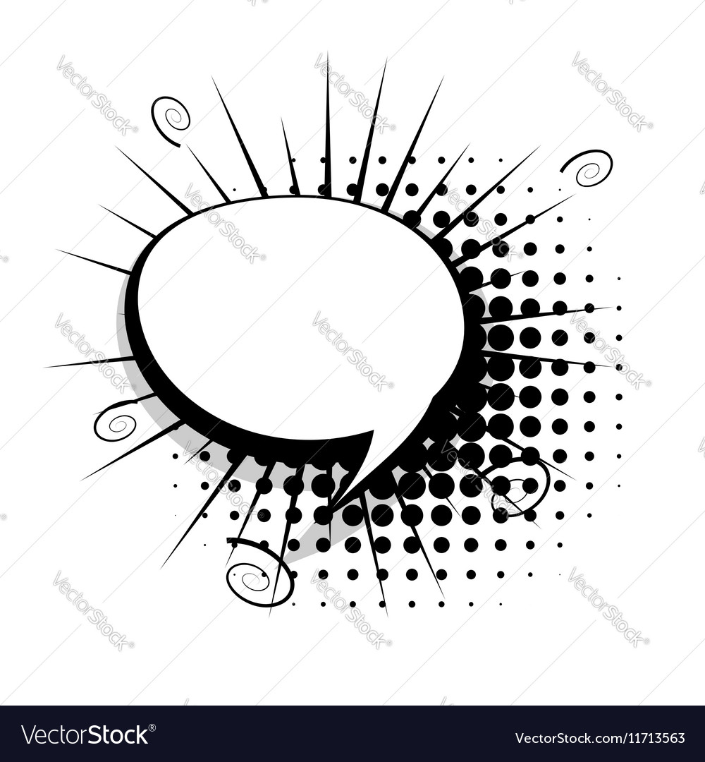 Blank Template Comic Speech Bubble Royalty Free Vector Image