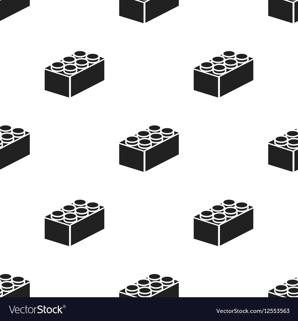 Building block black icon for web vector image