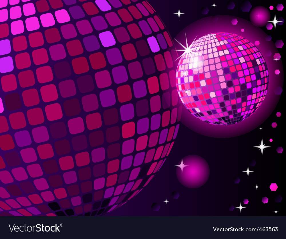 Celebratory disco ball vector image