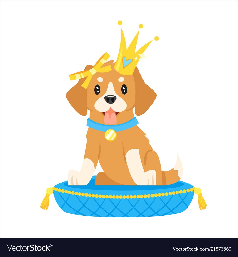 Dog Character In Golden Crown Royalty Free Vector Image Download 2,772 cartoon dog free vectors. vectorstock