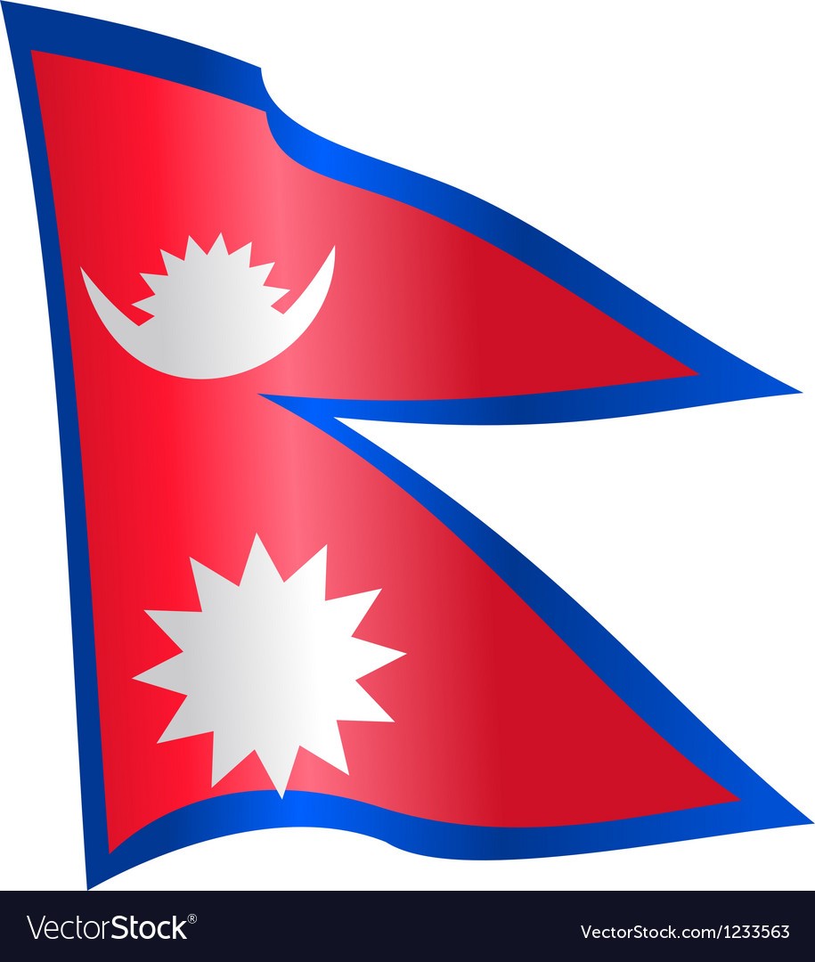 Flag of Nepal Royalty Free Vector Image - VectorStock
