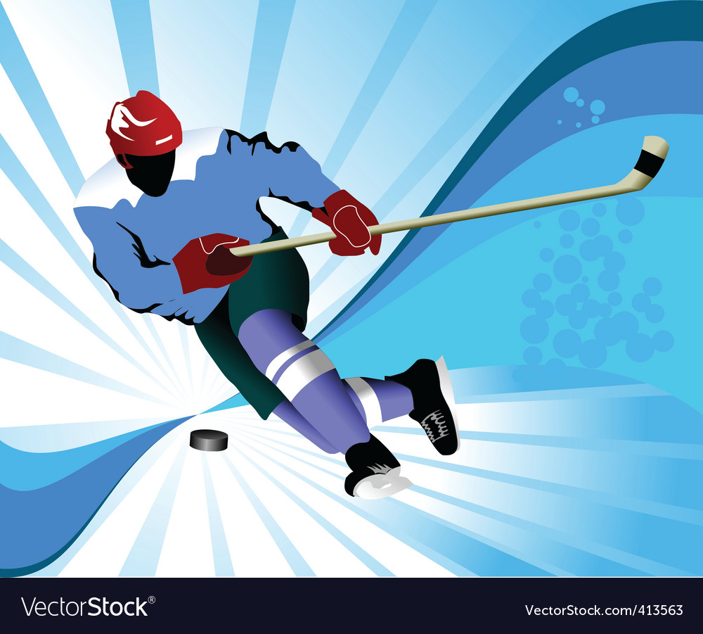Gold hockey puck vector image