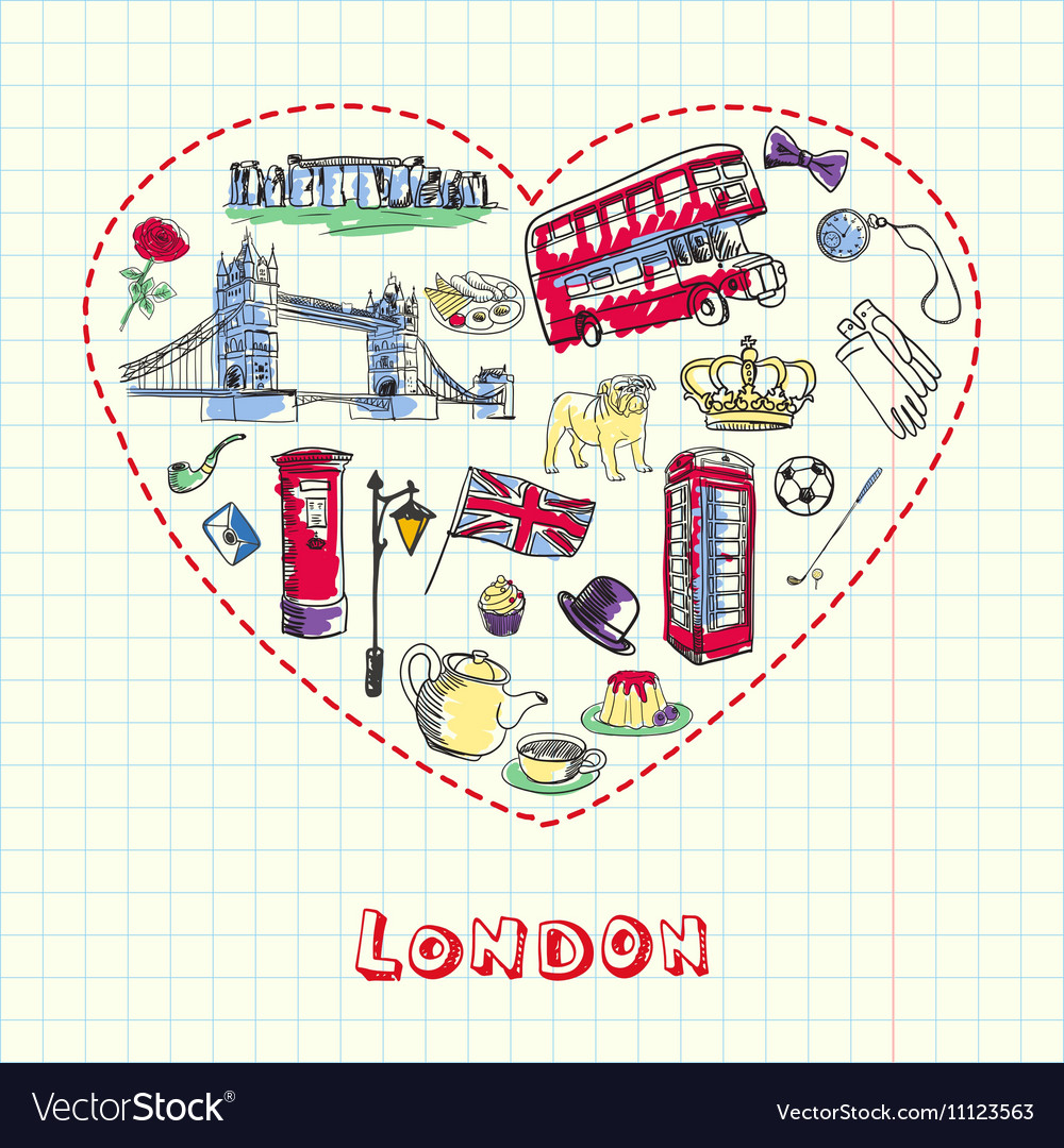 London Pen Drawn Doodles Collection