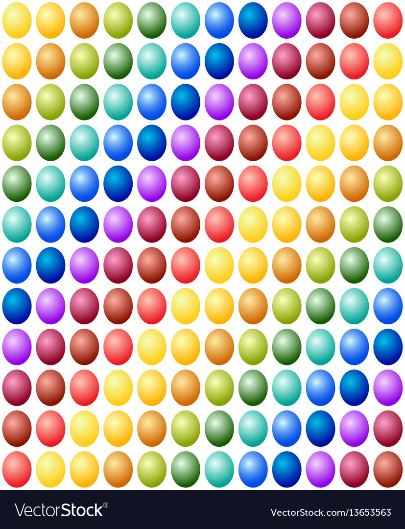 Seamless pattern easter eggs color spectrum
