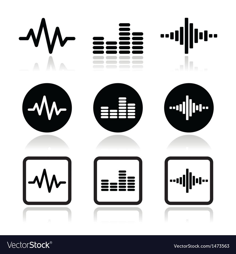 Soundwave music icons set