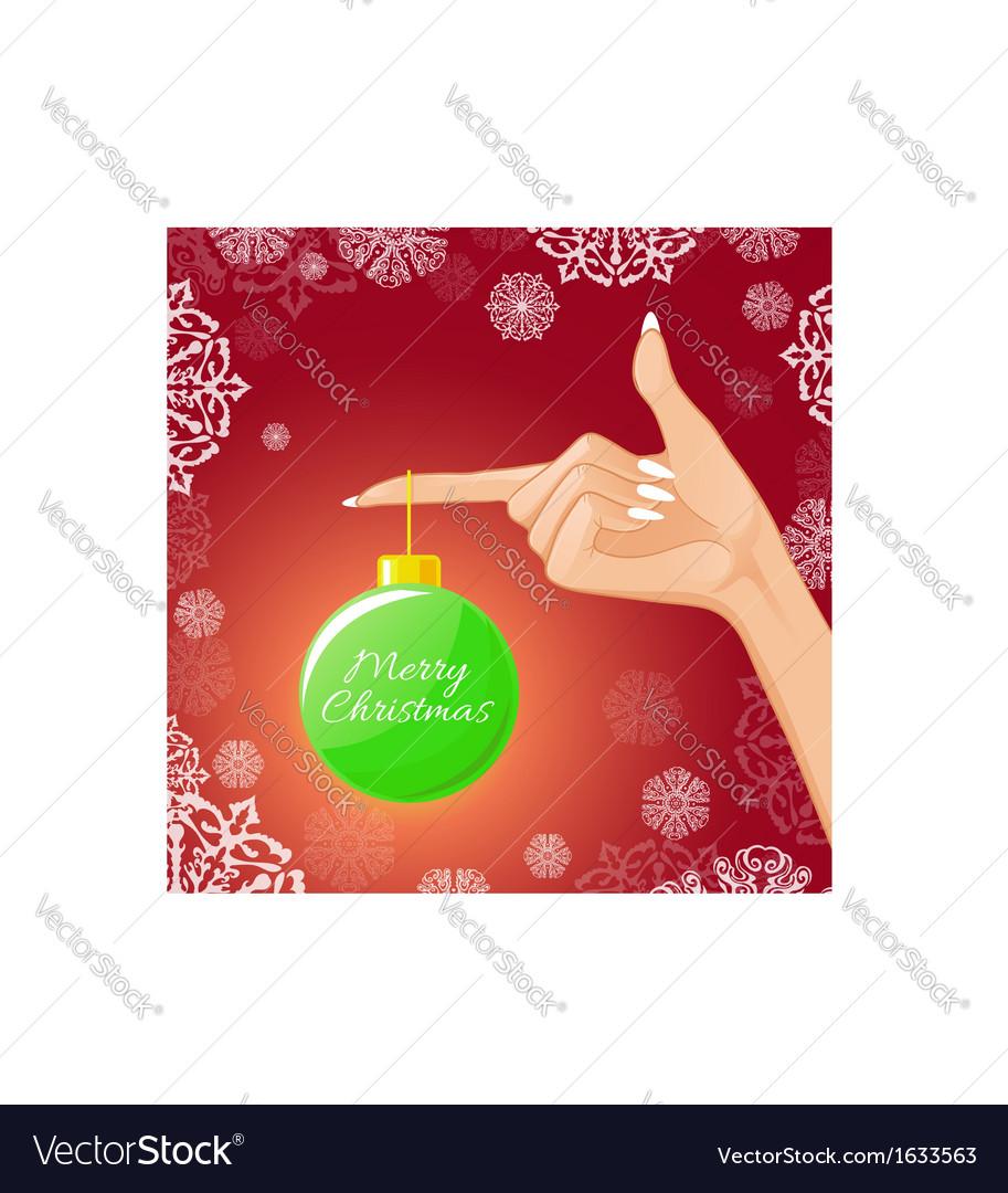 Woman hand with Christmas ball