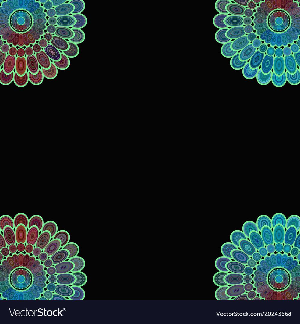 Abstract floral mandala background - love concept