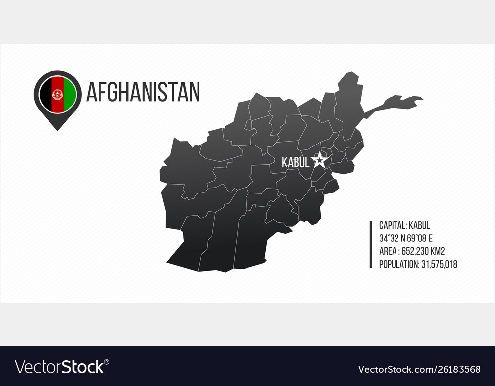 Afghanistan detailed map with regions and kabul
