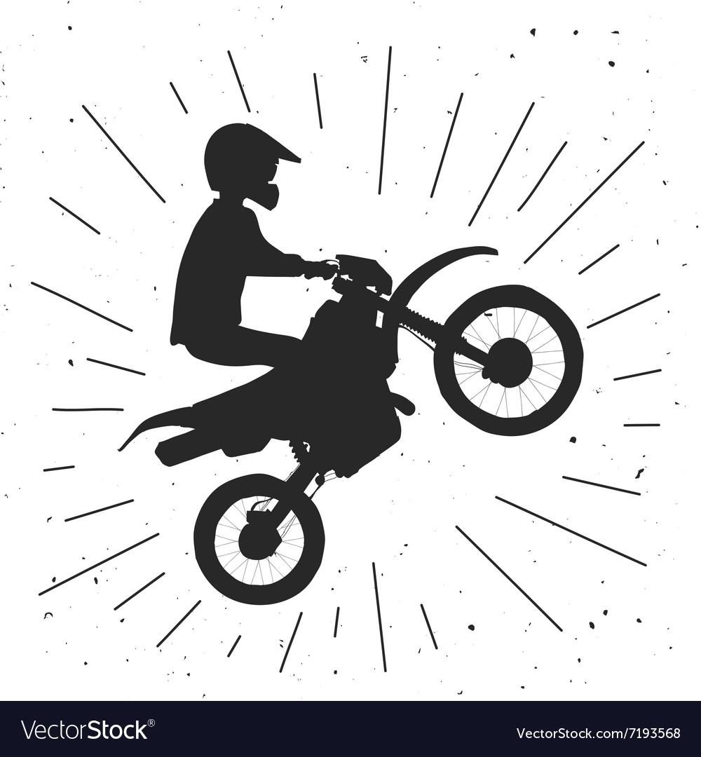 Enduro bike hand drawn vector image