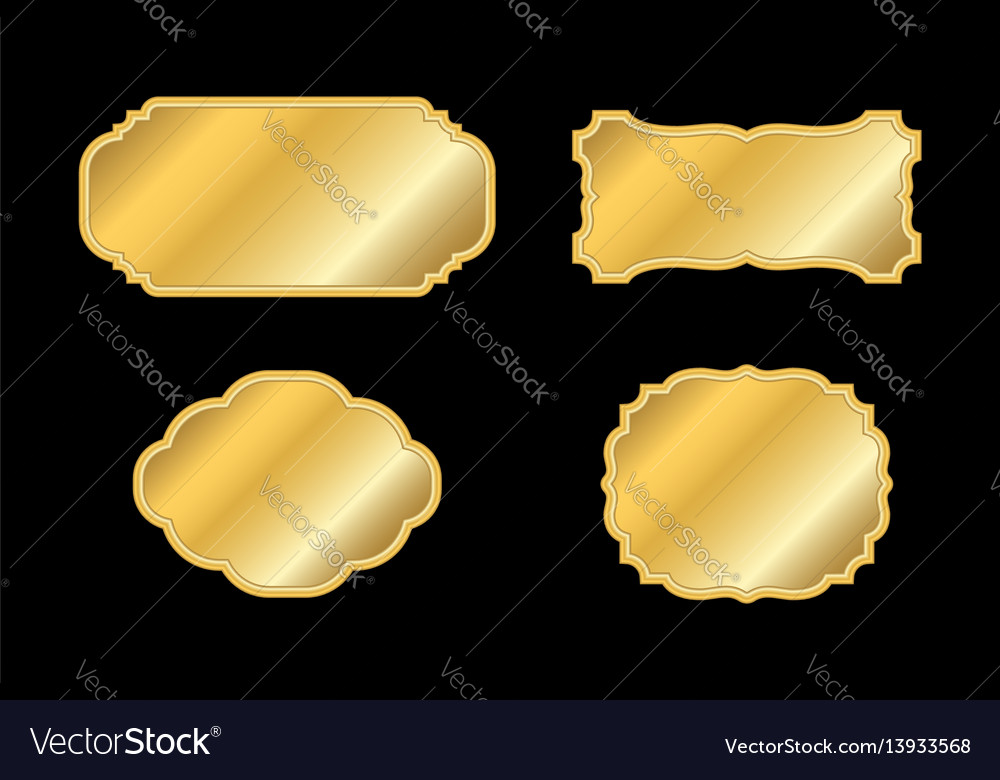 Gold frame beautiful simple golden design white