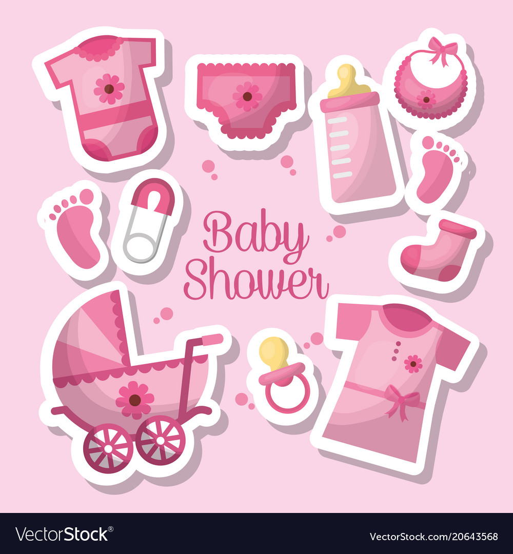 Happy Baby Shower Royalty Free Vector Image Vectorstock