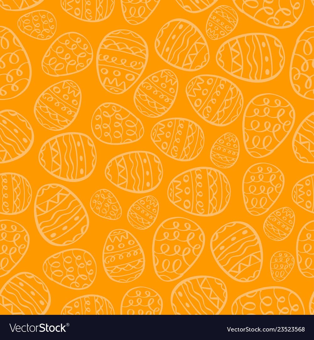 Happy easter background eggs cartoon doodle