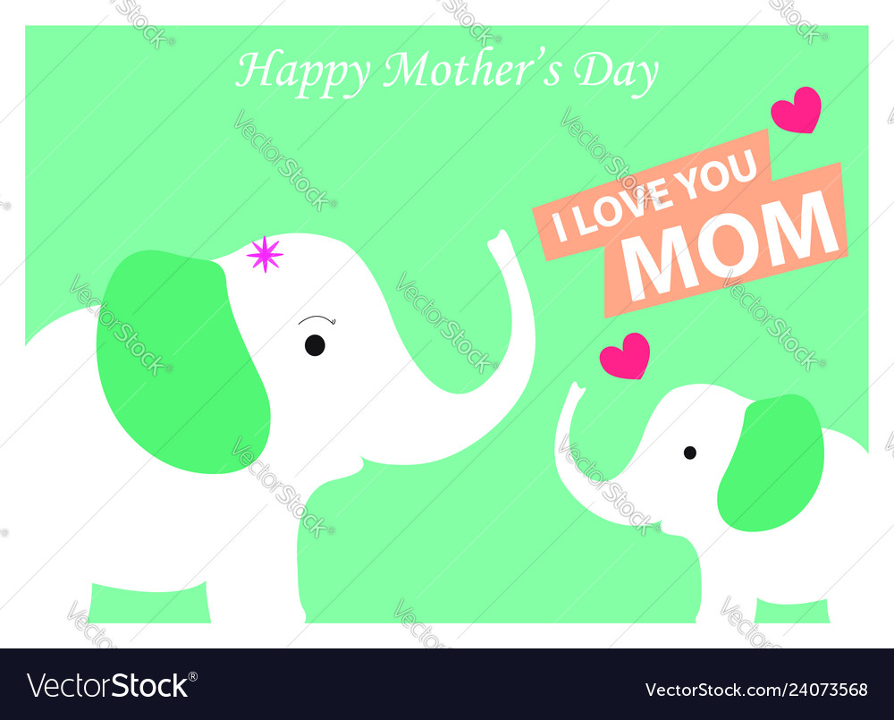 Happy mothers day design concept greeting card