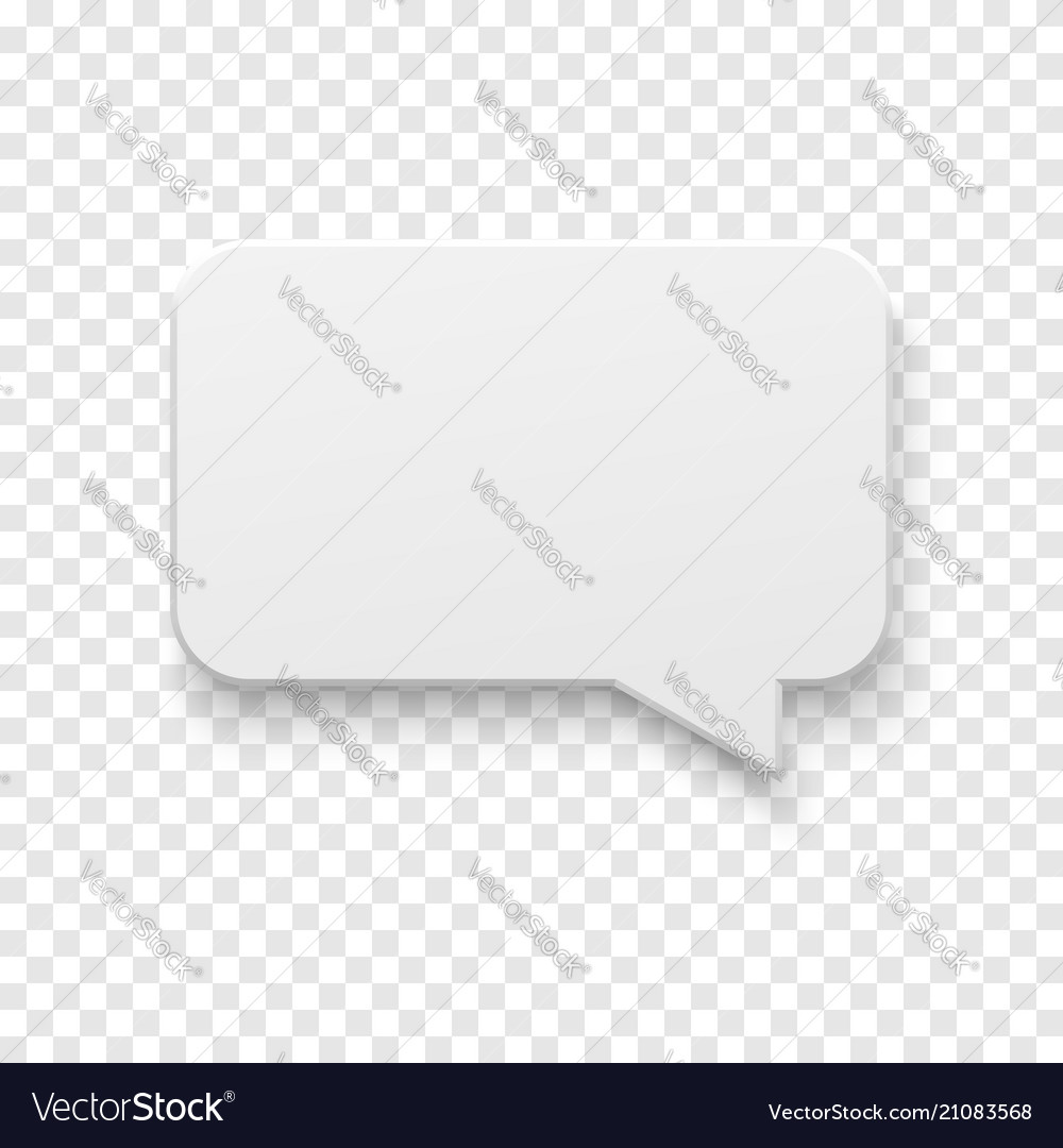 White blank paper speech bubble