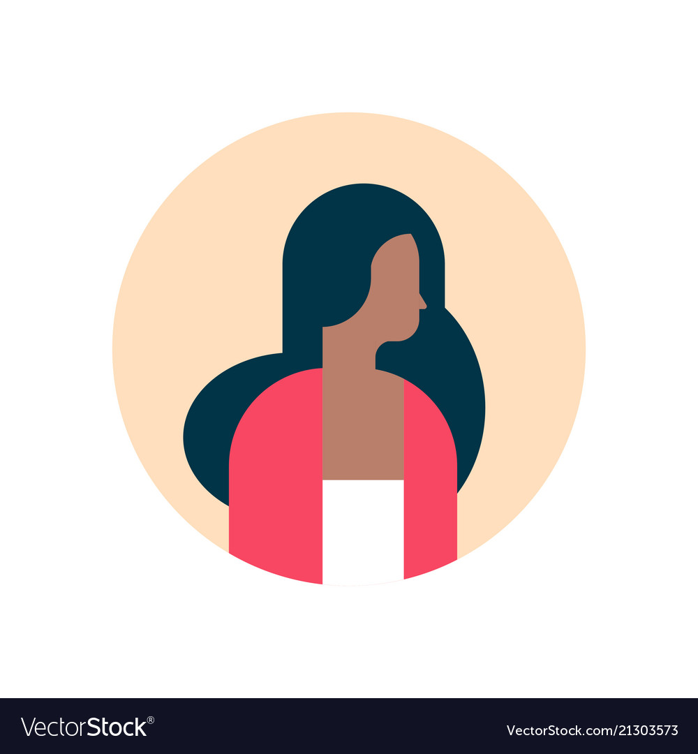African american woman character profile portrait