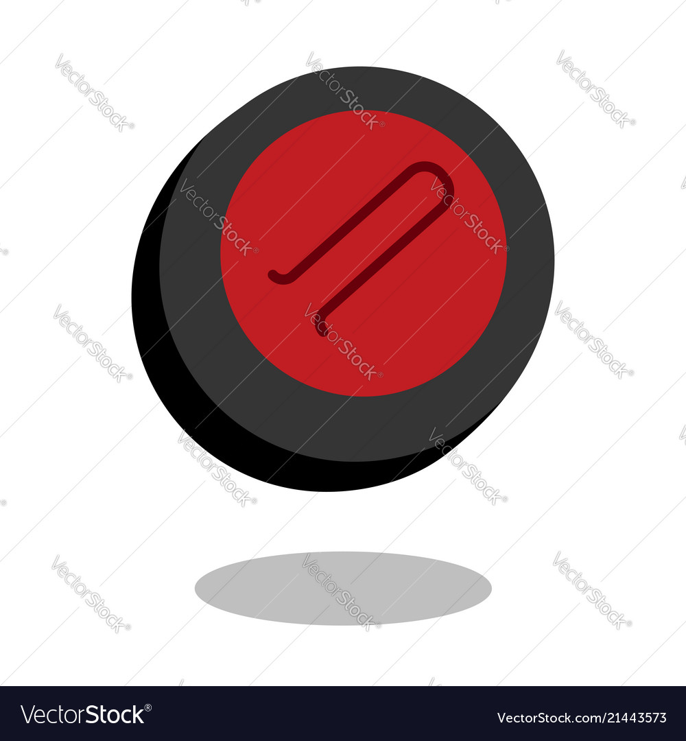 Curling sport stone logo line 3d icon