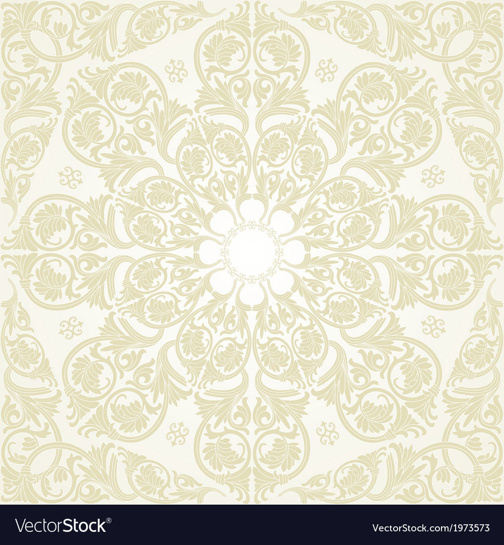 Damask Seamless With Baroque Ornaments