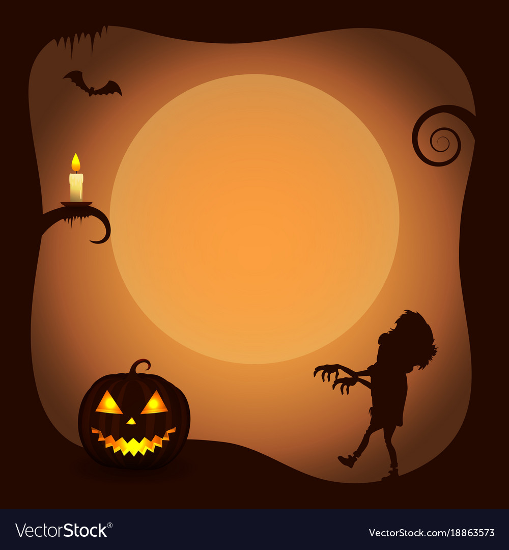 Halloween Poster Background Free.Halloween Poster Background With Zombie Silhouette