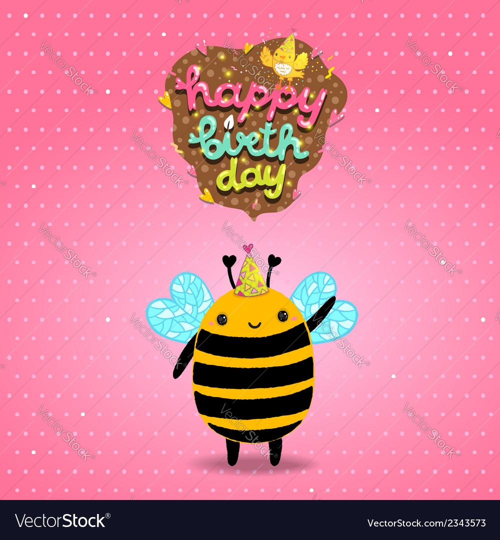 Открытки пчела с днем рождения