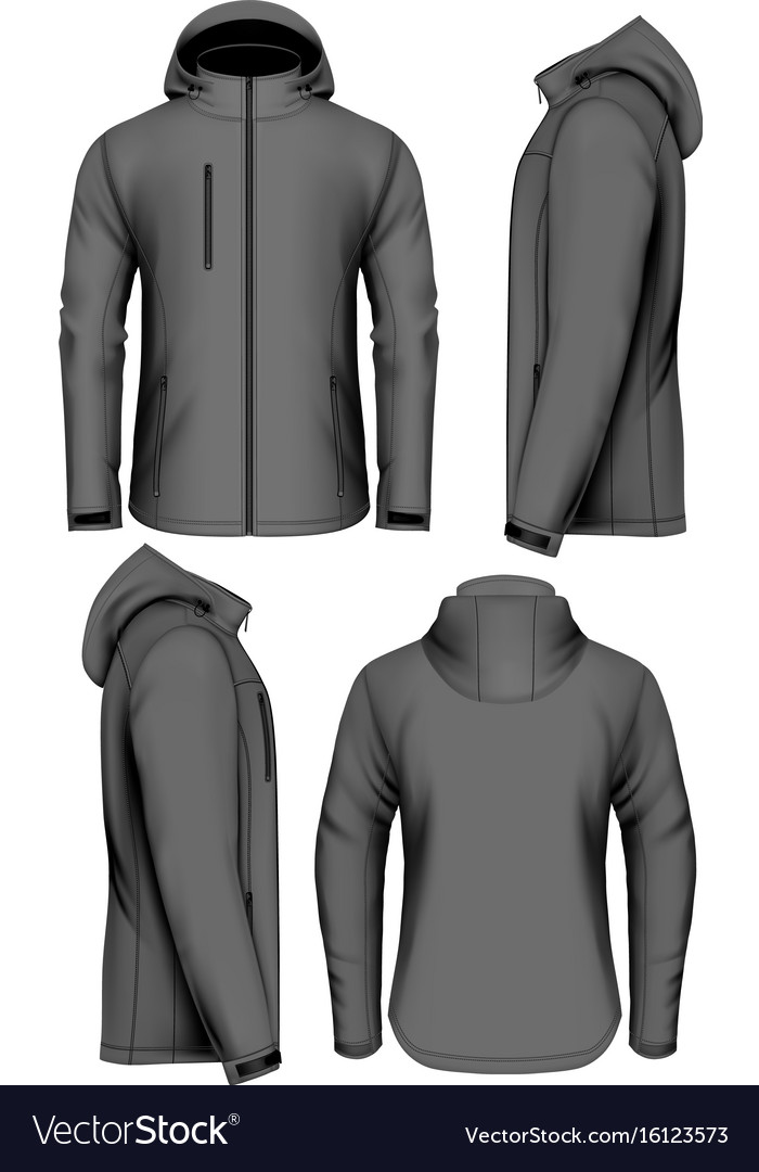 Men softshell jacket vector image