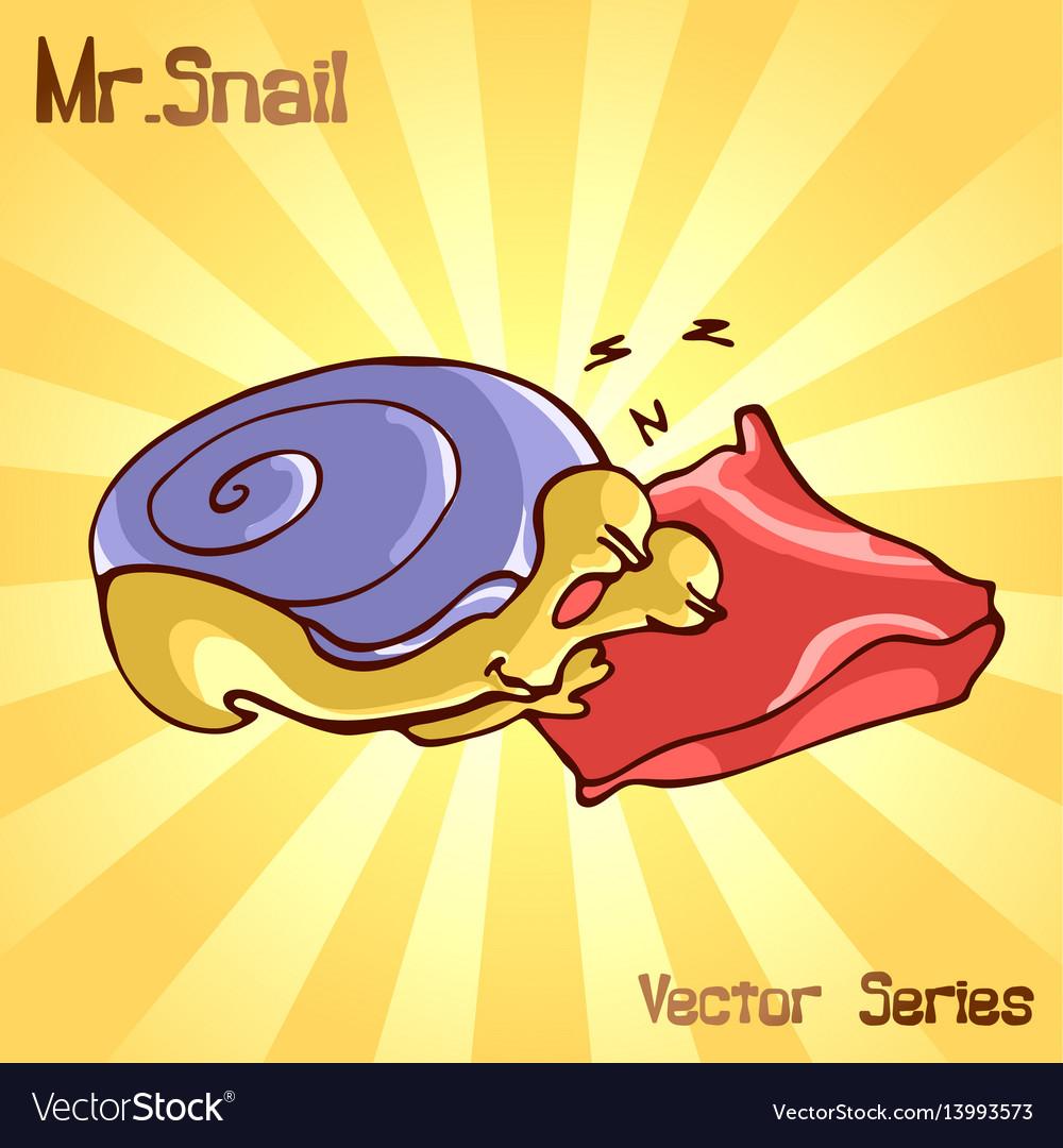 Mr snail with sleep vector image