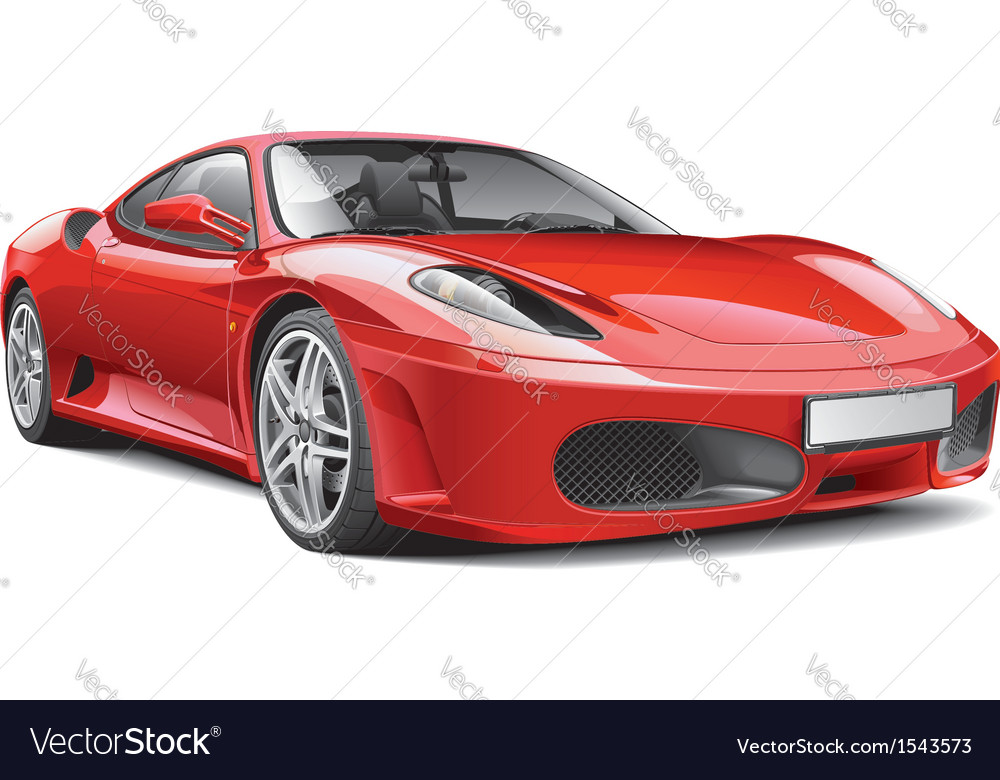 Red italian supercar