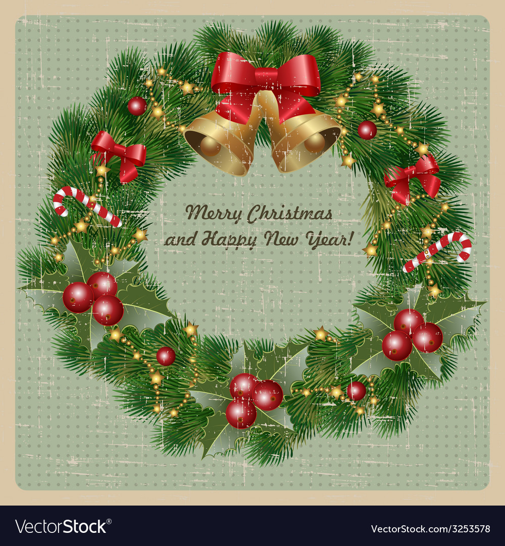 Christmas Greetings Royalty Free Vector Image Vectorstock