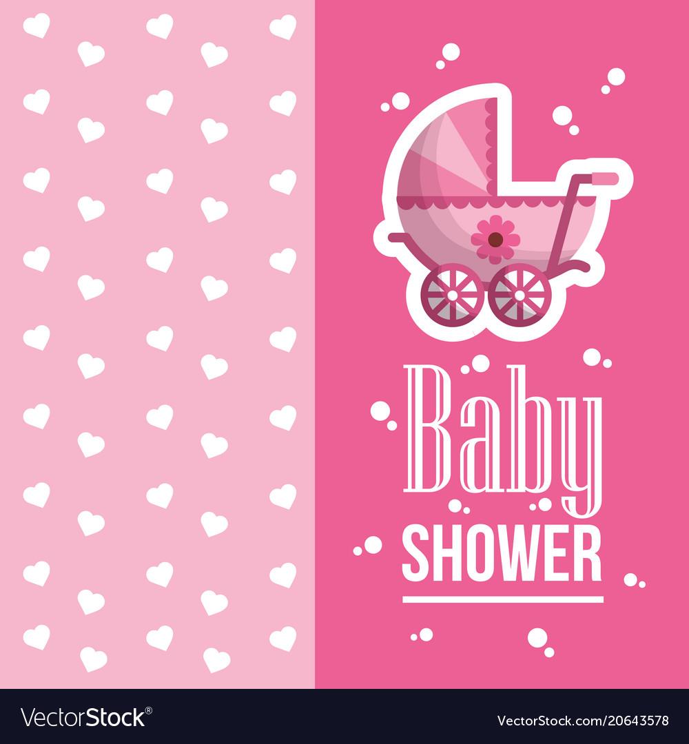 Happy Baby Shower Royalty Free Vector Image Vectorstock