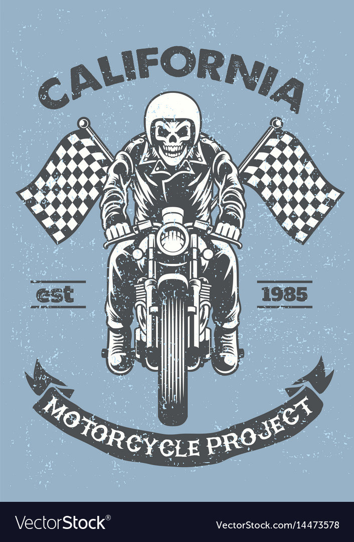 Vintage and textured motorcycle garage poster
