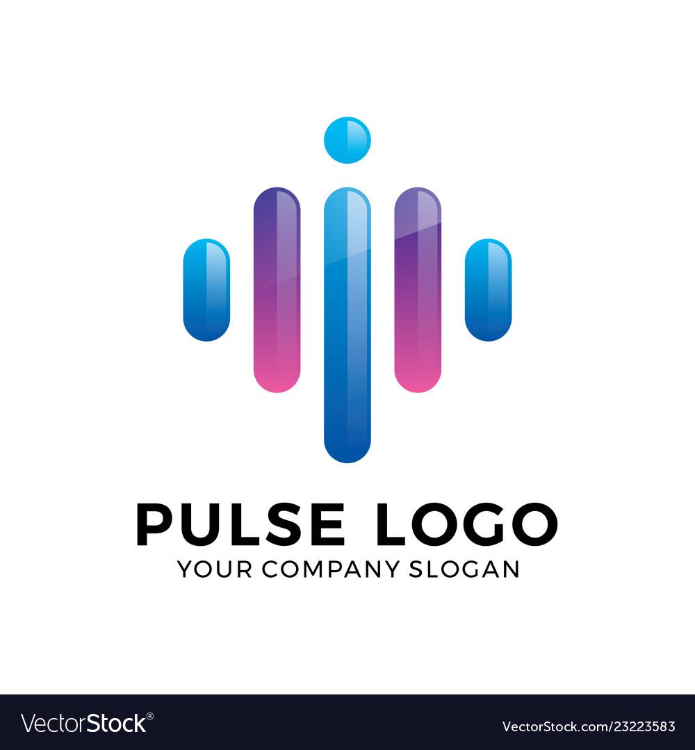 Abstract modern pulse logo