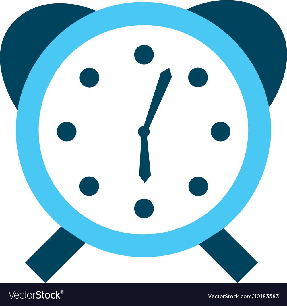 Alarm clock watch icon vector image