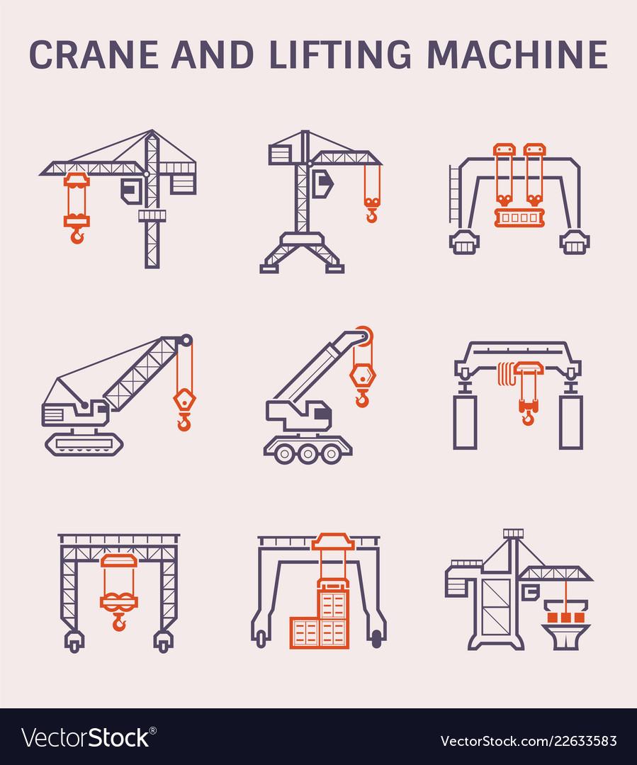 Crane lifting icon