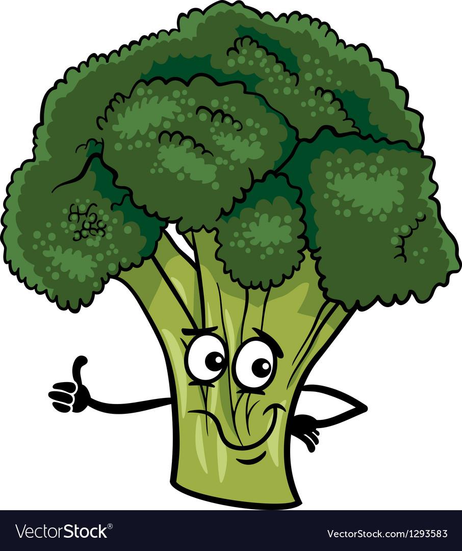 funny broccoli vegetable cartoon royalty free vector image vectorstock