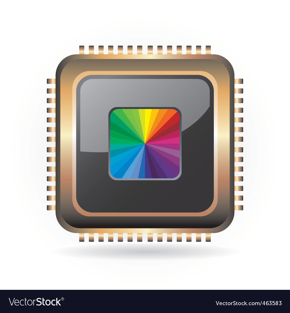 Golden chip vector image
