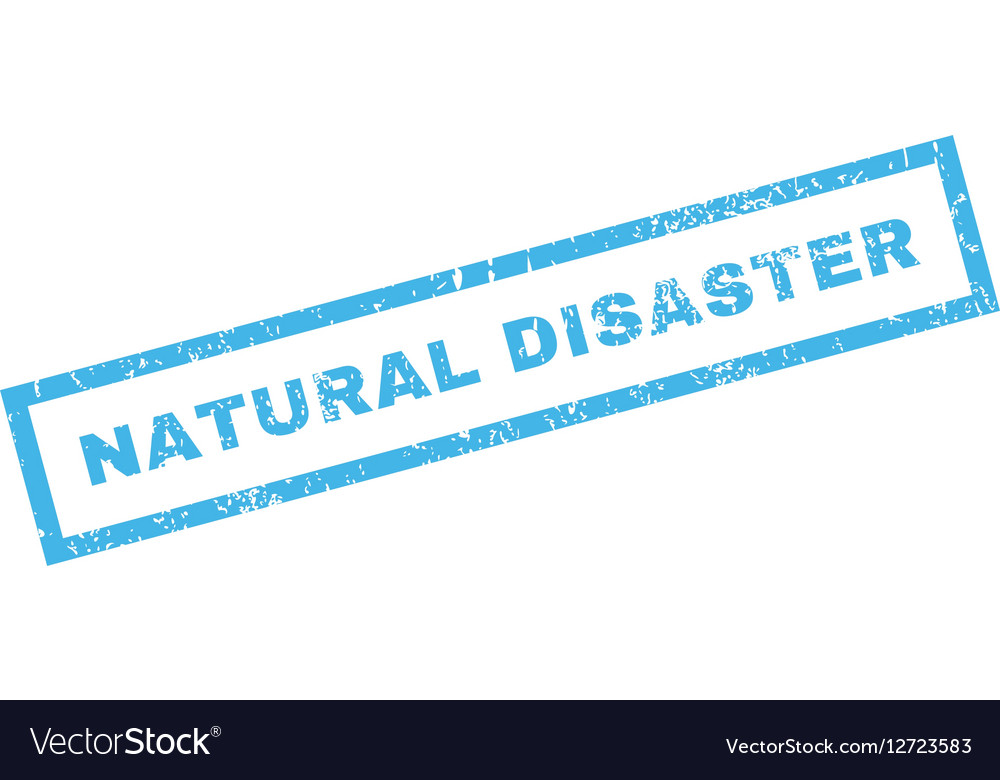 Natural Disaster Rubber Stamp