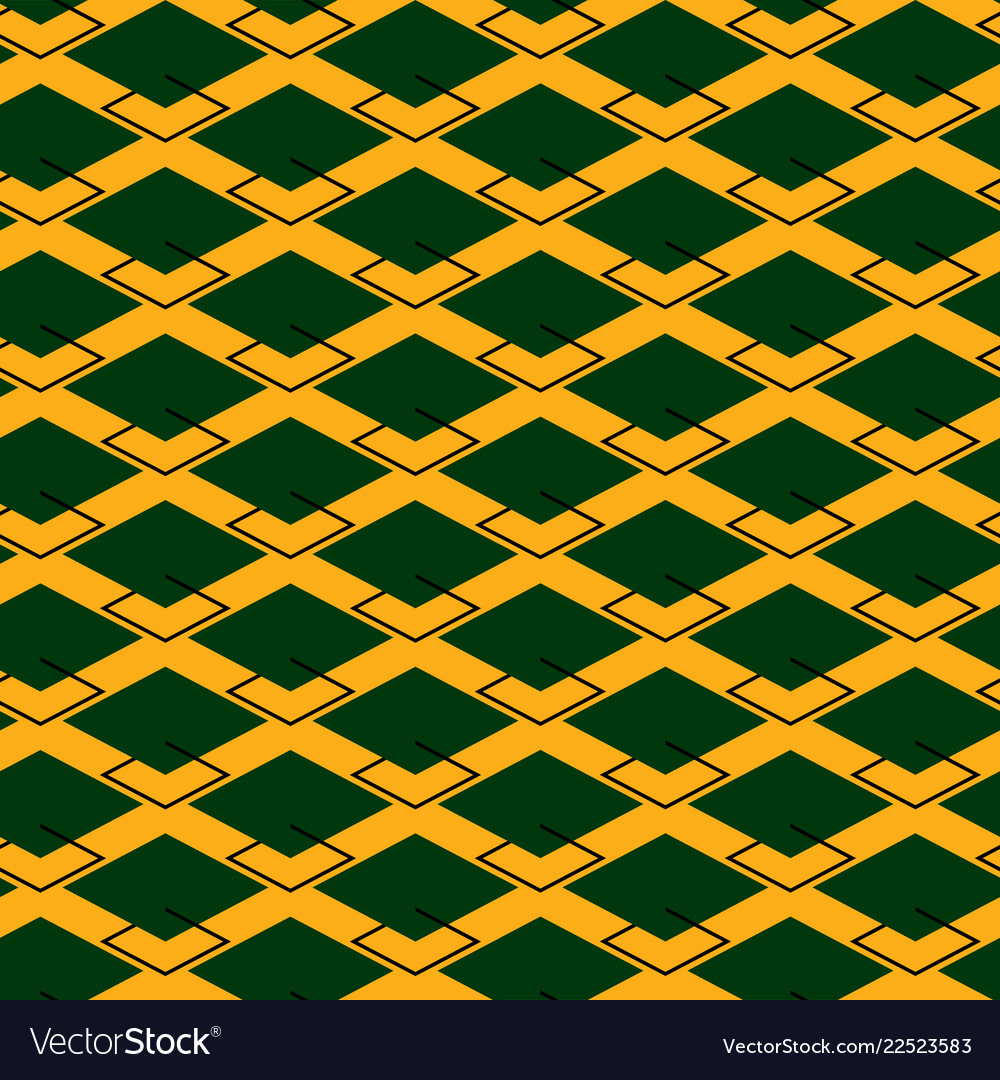 Seamless repeating pattern of rhombuses
