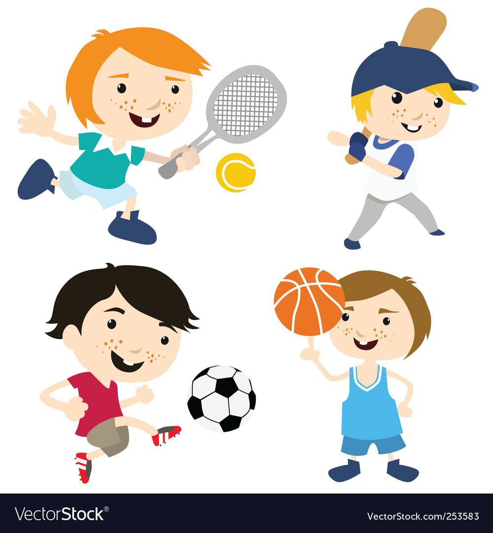 cartoon sport sports vector clipart royalty vectorstock making web