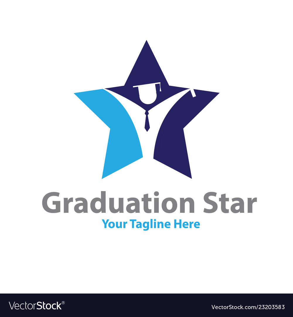 Star graduation logo designs