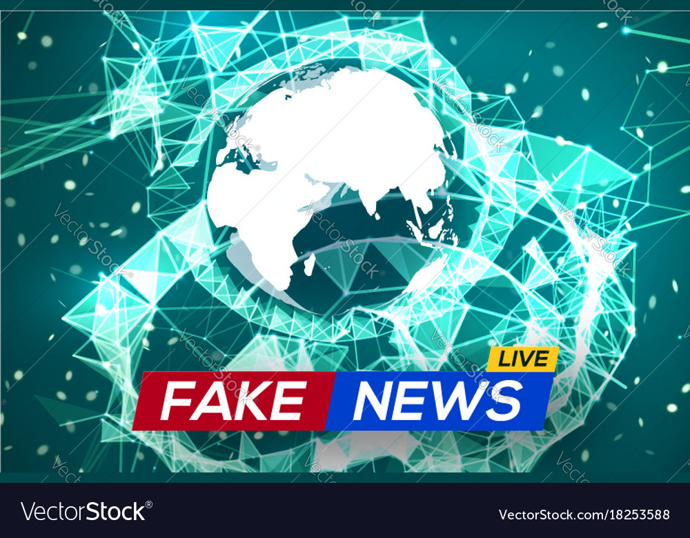 Live Map Of The World.Fake News Live World Map On Plexus Structure Vector Image