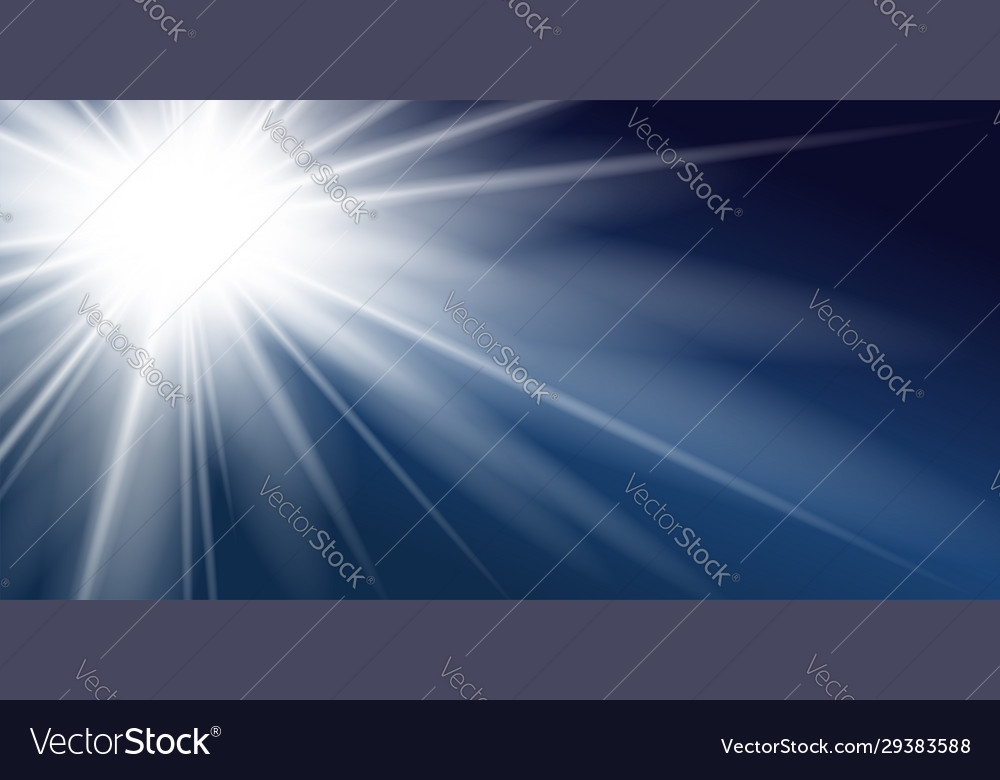 Ray blue background shiny graphic abstract sun
