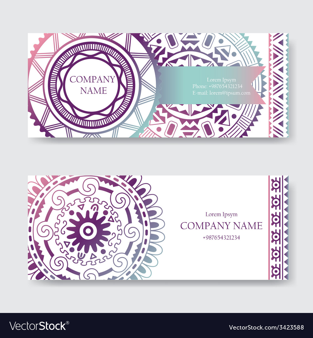 Set of business card or invitation card templates