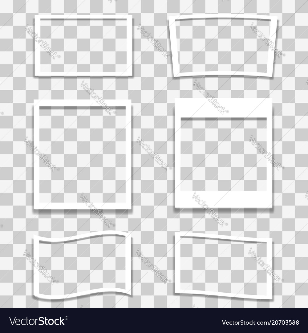 Set of different photo frames vector image