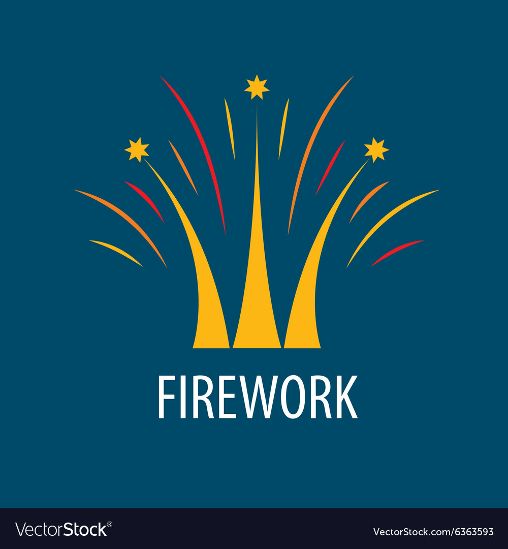 Abstract logo fireworks in the form of a crown