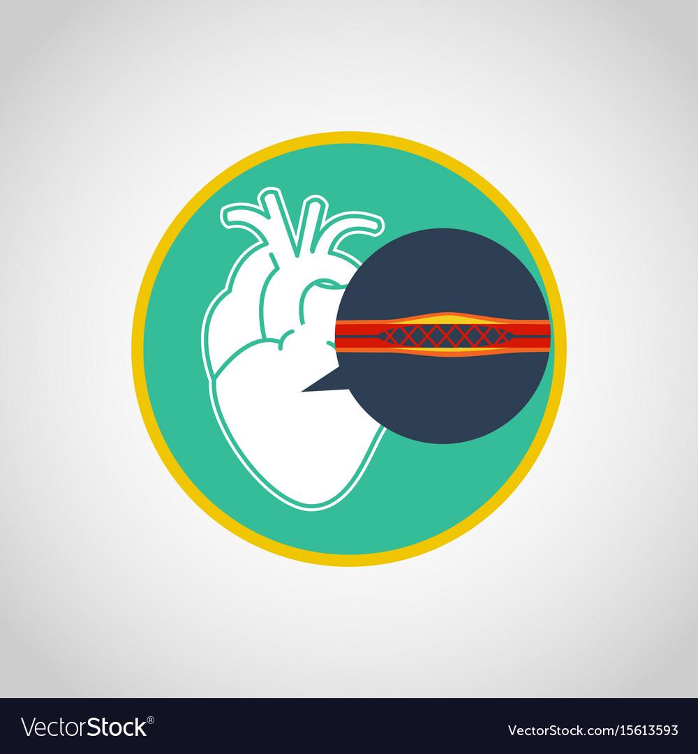 Cardiac catheterization logo icon design