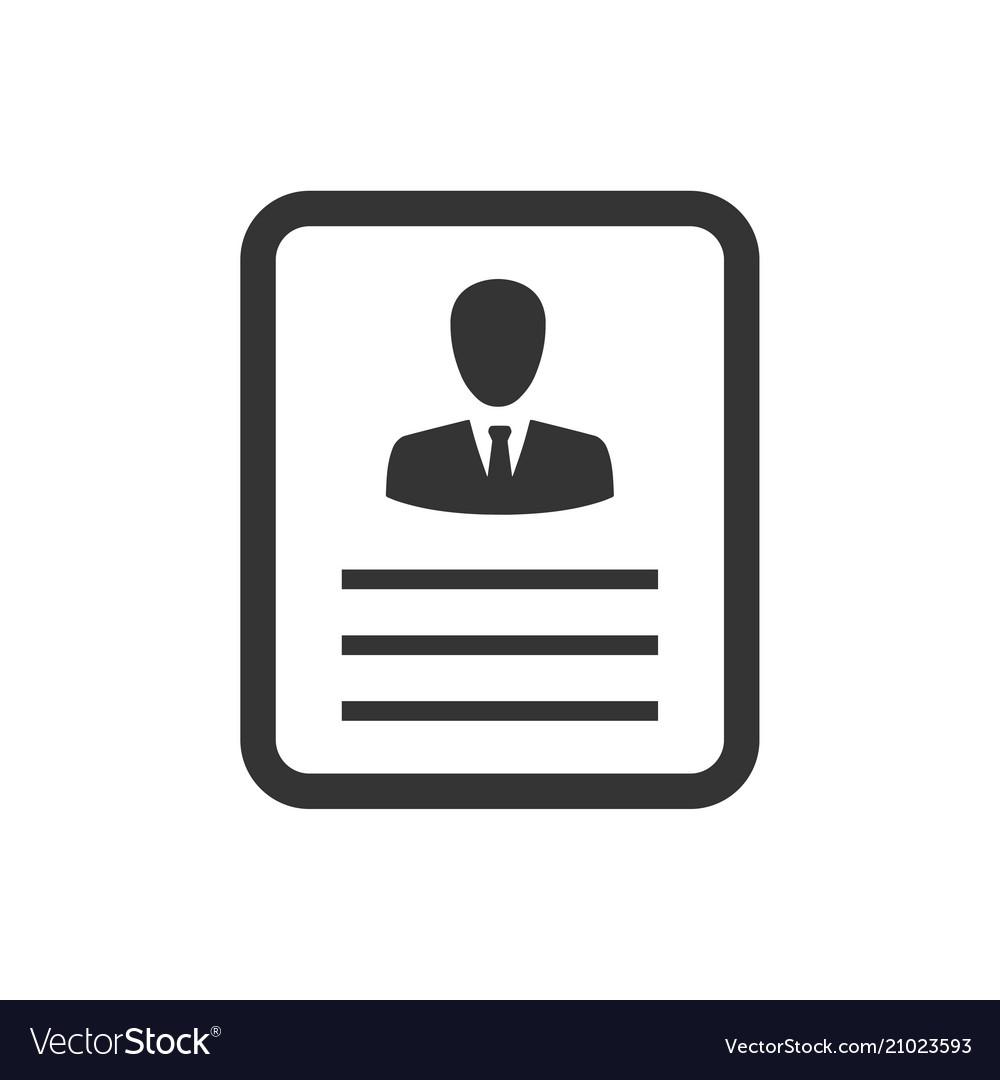 Employee Resume Icon Royalty Free Vector Image