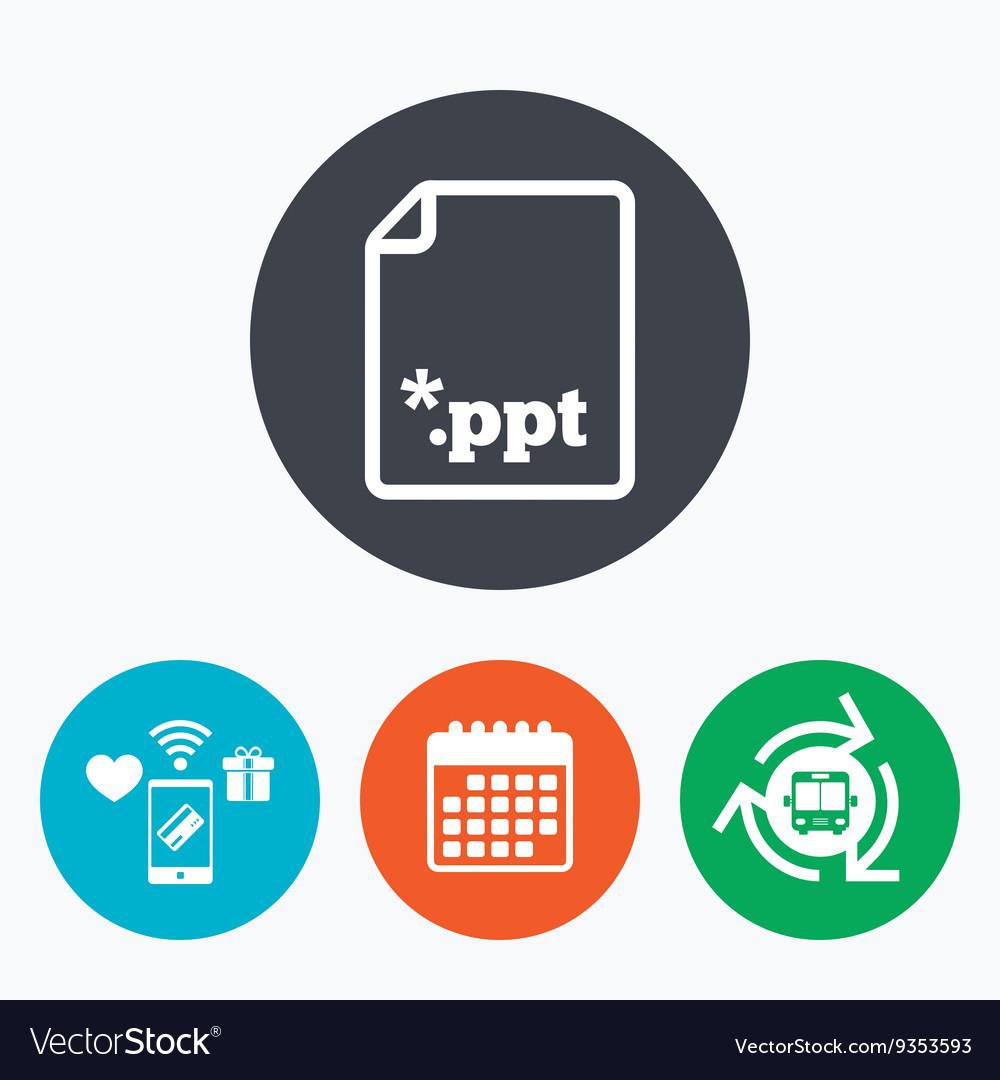 file presentation icon download ppt button vector image