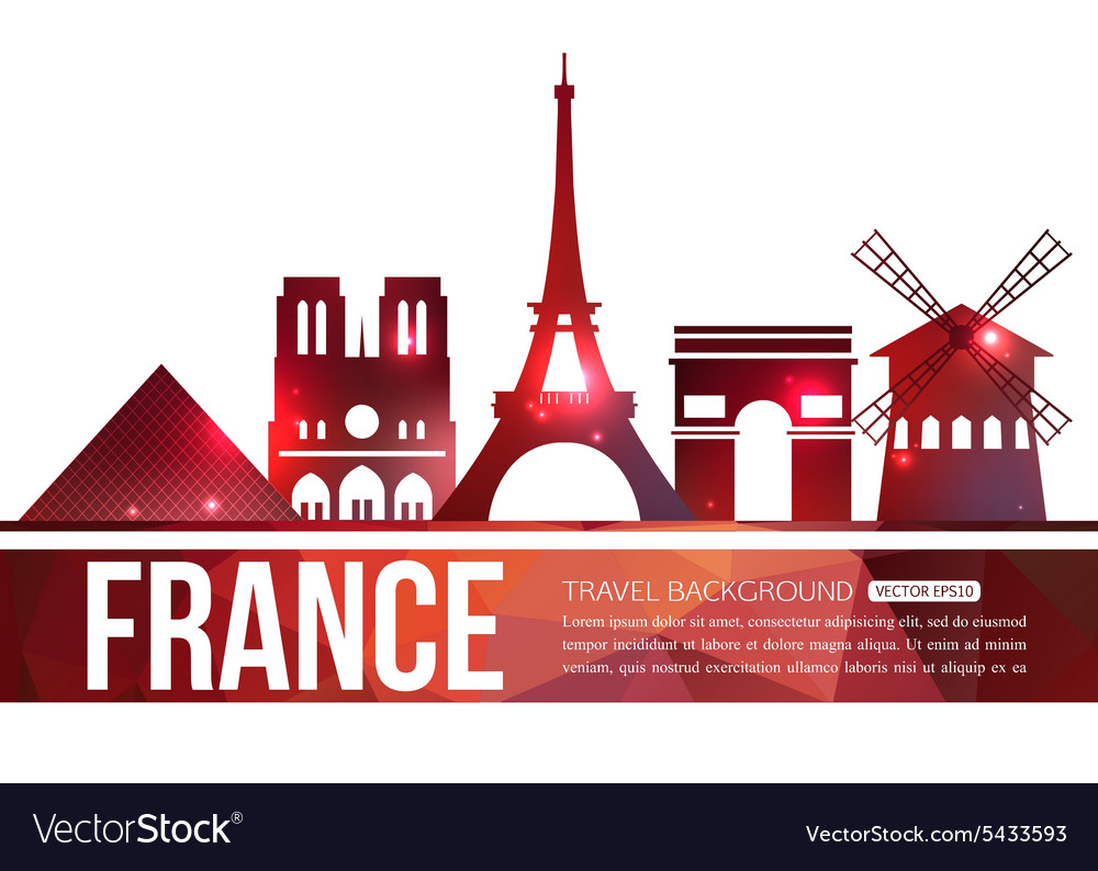 France travel background with place for text