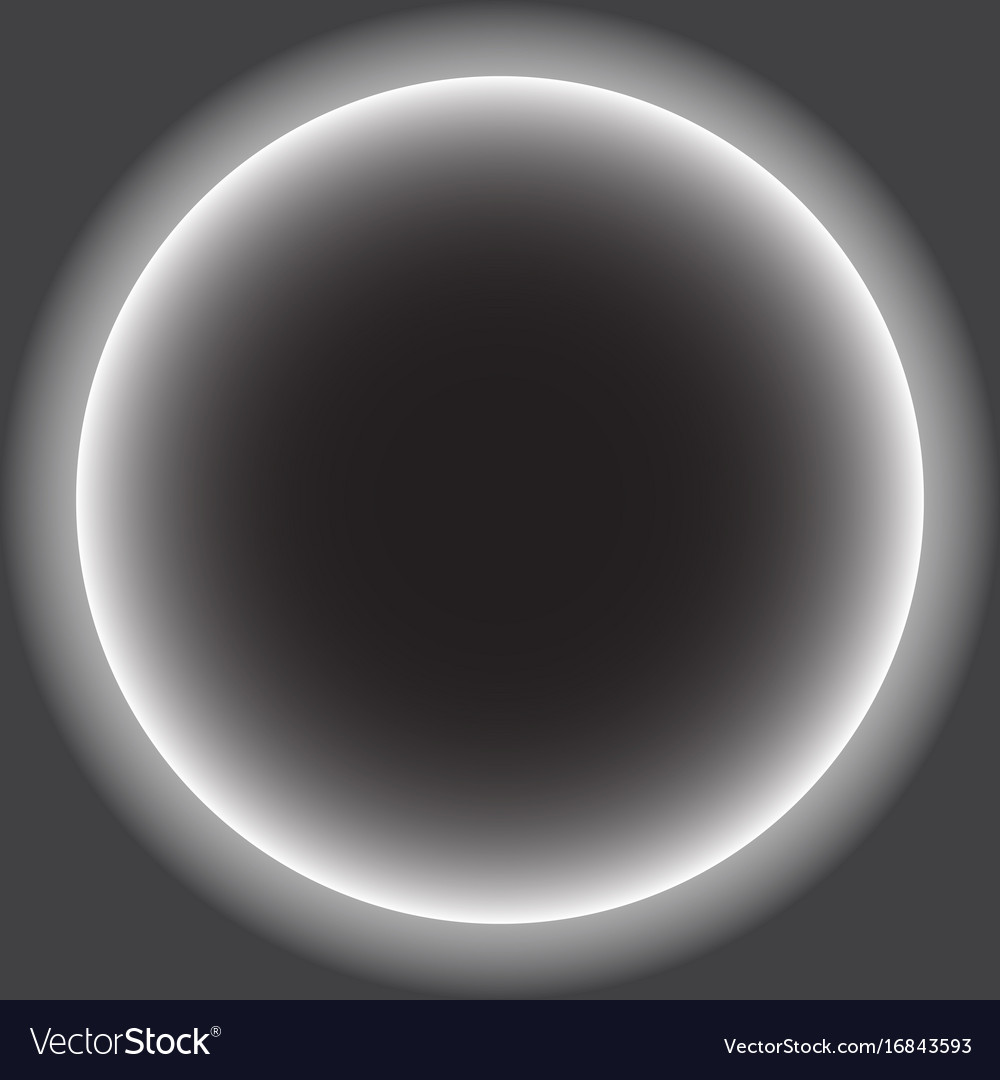 Gray Circle With White Halo Solar Eclipse Vector Image
