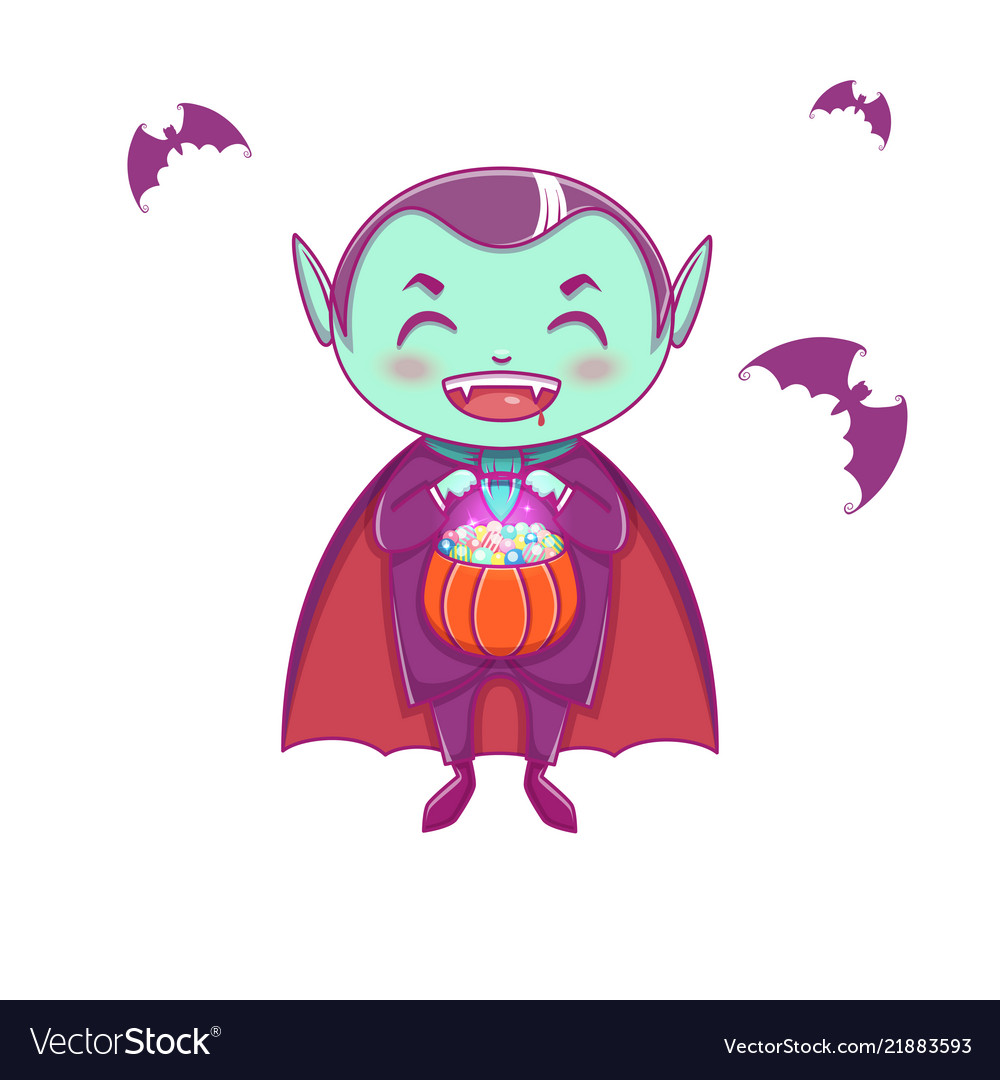 Halloween little vampire dracula boy kid