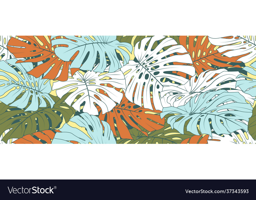 Hand drawn abstract tropical background